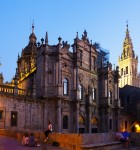Santiago de Compostela Cathedral in evening time. Spain